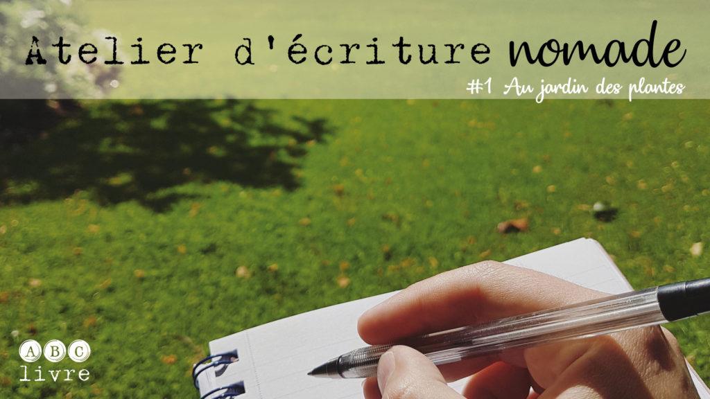 atelier d'écriture nomade