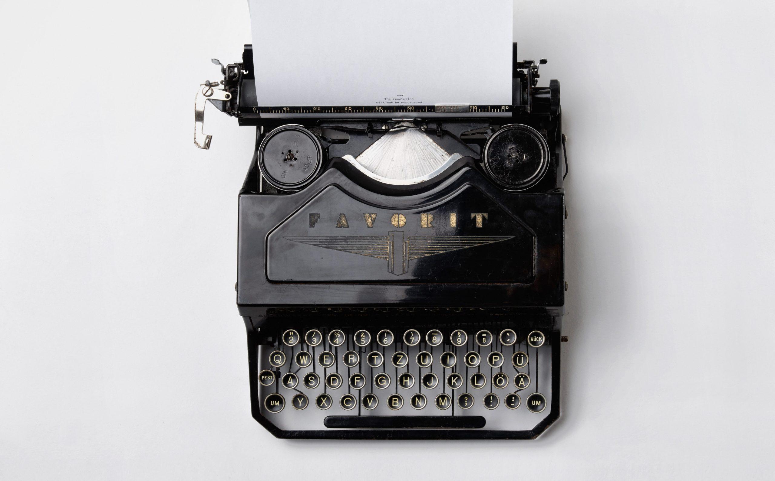 machine à écrire, écrivain public