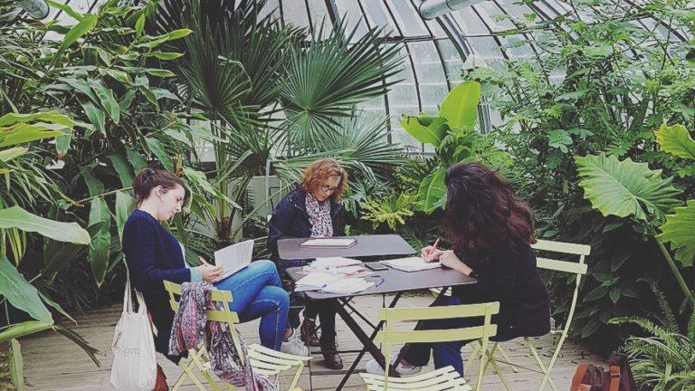 Atelier d'écriture nomade jardin des plantes Nantes