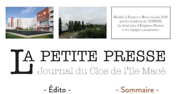 La petite presse : journal entre bénévoles et résidents d'EHPAD