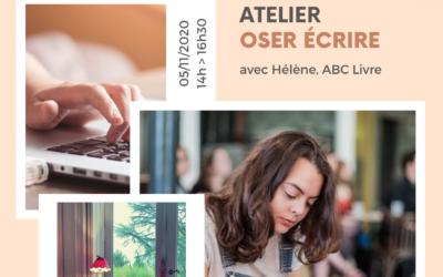 Atelier Oser écrire avec le Café des entrepreneuses