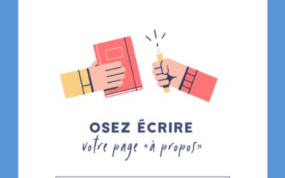 Atelier Osez écrire votre page 'À propos'