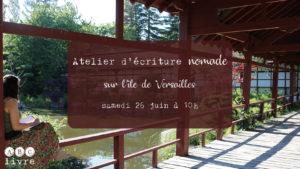 atelier d'écriture sur l'île de Versailles