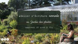 atelier écriture nantes jardin des plantes